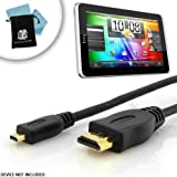 51jqyeyUCiL. SL160  Accessory Power Premium Gold Plated High Speed 6 ft Micro HDMI Cable for Asus Transformer Prime TF201 , Vizio VTab , Acer Iconia A500 , A100 , Lenovo K1 Ideapad and More Micro HDMI Tablets