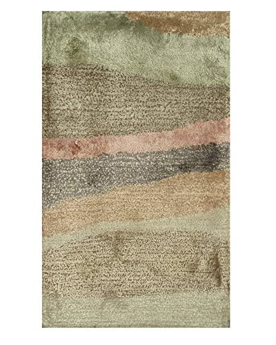 "Pop Accents Grand Canyon Scatter Rug, Gold/Green, 16"" x 27"""