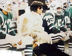 Joe Namath 16x20 Jets Sideline Fur Coat