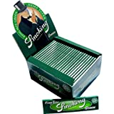 SMOKING KING SIZE GREEN PURE HEMP ECO CIGARETTE ROLLING PAPERS - 5 BOOKLETS