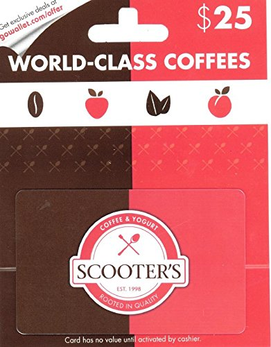 Scooter'S Coffee And Yogurt $25 Gift Card front-777672