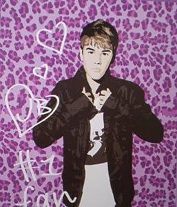 "Justin Bieber Pink Leopard Super Soft Royal Plush Twin Size Blanket 60""x80"""