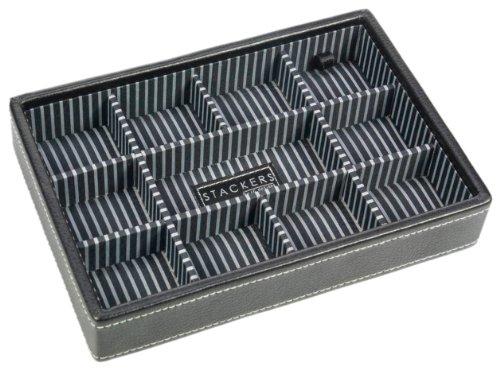 Men's Black Sectioned Mini Stacker