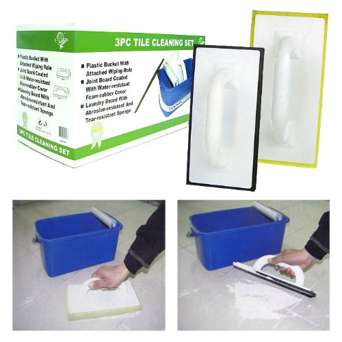 Large 3 Piece Tile and Grout Cleaning Set - As Seen on TV