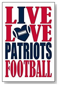 Live Love I Heart Patriots Football lined journal - any occasion gift idea for New England Patriots fans from WriteDrawDesign.com