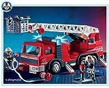 Playmobil Fireman Ladder Fire Engine Truck