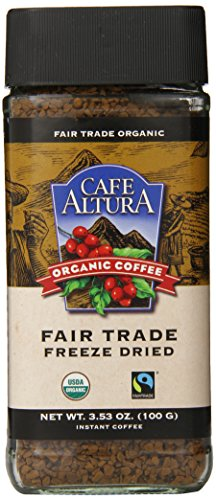 Cafe Altura Freeze Dried Instant Organic Coffee, 3.53 Ounce (Pack of 2) (Instant Coffee Fair Trade compare prices)