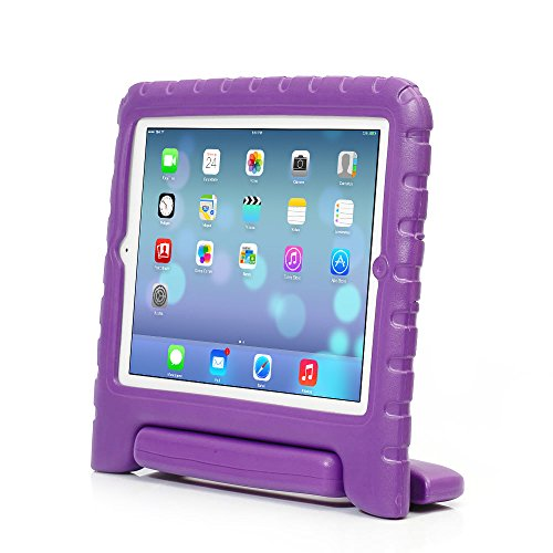 iPad case,iPad Mini 4 case,ACEGUARDER Light Weight Shockproof Kids Friendly Handle Cases Cover with stand (Purple, iPad Mini 4) (Ad Mini Case compare prices)