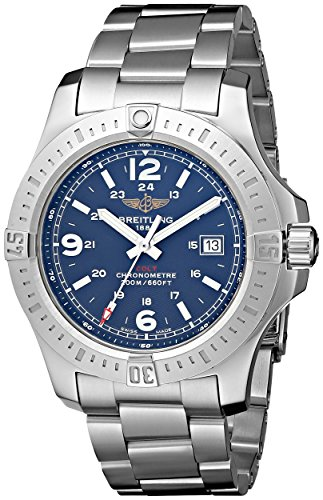 Breitling Colt Blue Dial Stainless Steel Mens Watch A7438811-C907SS