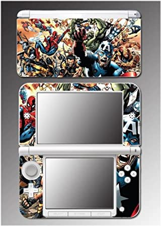 Spider Man Hulk Captain America Avengers Video Game Vinyl Decal Cover Skin Protector 3 Nintendo 3DS XL