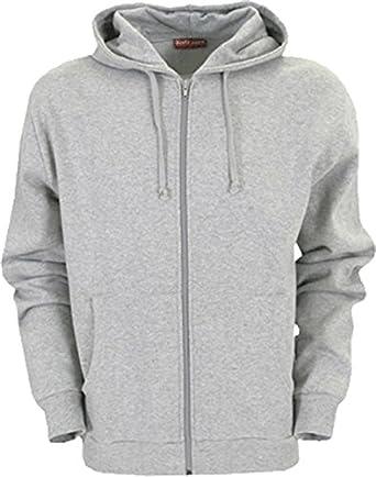 Hanes Kapuzen Jacke / S - 2XL Farbe grey heather Größe 2XL