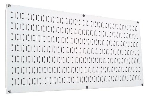 Images for Wall Control Pegboard 16in x 32in Horizontal White Metal Pegboard Tool Board Panel