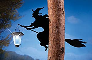 Witch Shadow Tree Solar Lantern Halloween Decoration by Collections Etc