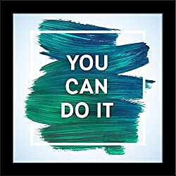 ArtzFolio You Can Do It - Nano Size 6.0 inch x 6.0 inch - FRAMED PREMIUM CANVAS Wall Artwork Digital PRINT like HAND PAINTINGS : BEAUTIFUL INTERIOR Home Décor Photo Gifts & Decorative Paintings for Bedroom, Living, Drawing, Dining Room, Office, Interior Decor, Reception, Bathroom, Outdoor, Gallery, Hotels, Bar, Lounge, Restaurants, Kitchen Area & Balcony : Kids, Motivational, Quotes
