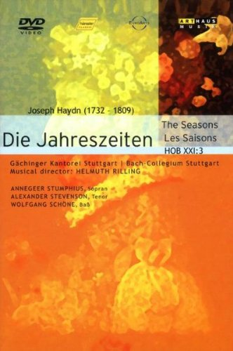 Cover art for  Haydn: Die Jahreszeiten (The Seasons); Helmut Rilling/A. Stumphius, S. Stevenson, W. Schöne/ Gächinger Kantorei, Bach-Collegium Stuttgart