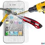 Ecran pour Apple iPhone 4 / 4S en verre trempé Crystal Clear LCD Protecteur & Chiffon SVL0 PAR SHUKAN®, (VERRE TREMPÉ)