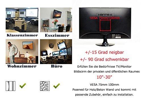 bps tv wandhalterung monitor halterung schwenkarm schwenkbar neigbar universelle wandhalter fr. Black Bedroom Furniture Sets. Home Design Ideas
