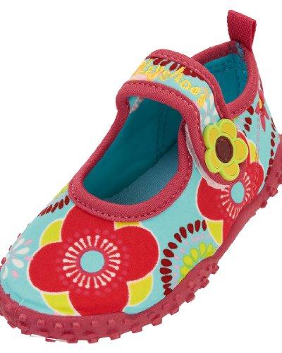 Playshoes Aquaschuhe, Badeschuhe Blumen mit höchstem UV-Schutz nach Standard 801, Ciabatte da spiaggia/piscina bambina, Multicolore (Mehrfarbig (original 900)), 34/35