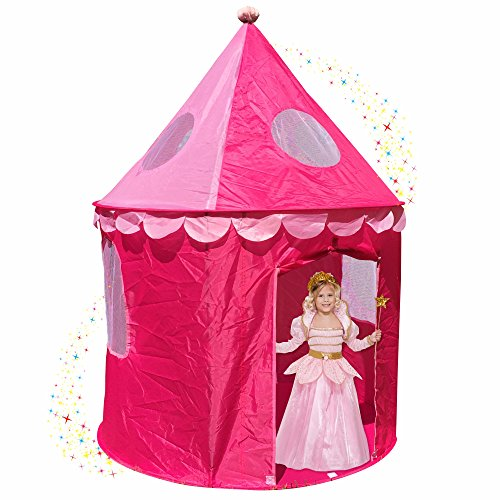Pink Princess Castle Play Tents for Girls w/ Sunroof - Unique Pop Up Children Play Tent for Indoor u0026 Outdoor Use - Beautiful Fairy Princess Castle Tent w/ ...  sc 1 st  InfoBarrel & Princess Castle Play Tents For Girls-Indoor Outdoor Magical Fun ...