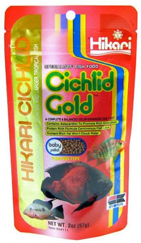 Hikari Cichlid Gold Floating Baby Pellets for Pets, 2-Ounce - 1