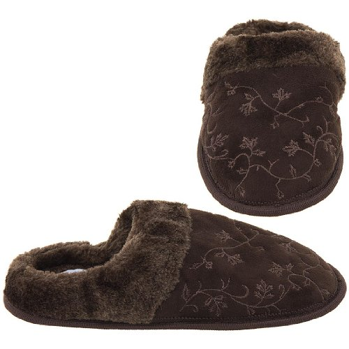 Cheap Harve Benard Brown Embroidered Slippers for Women (B006CVS4QS)