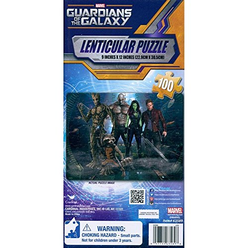 Guardians Of The Galaxy 100 Piece Lenticular Puzzle by Cardinal