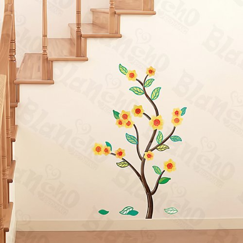 Flower & Leaf - Wall Decals Stickers Appliques Home Decor front-518801