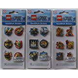 Lego City HandiWork Embossed 3D Stickers Set Of 3 Police Fireman Construction Worker