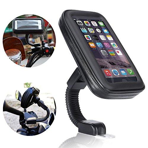 Support Etanche Téléphone, Ubegood Support Moto to du Guidon Universel Réglable Support de Téléphone sur Vélo & Moto, Rotation à 360 °pour iPhone 6/ 6...