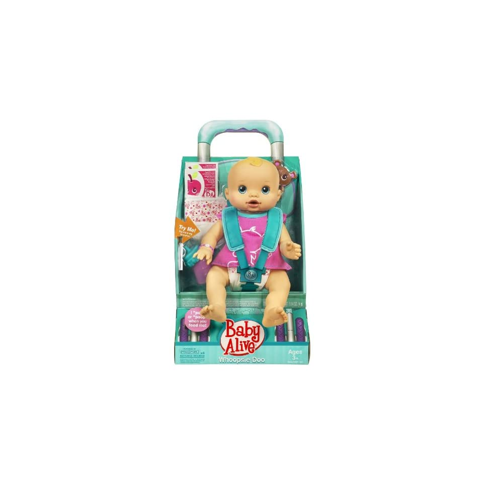 Hasbro Baby Alive Whoopsie Doo Doll Caucasian Blonde New on baby alive car seat