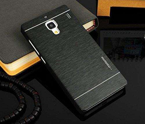 Premium Metallic Finish Back Cover for Xiaomi Redmi Note (Dual Sim & 4g Models) - Black : by Cool Mango (TM)