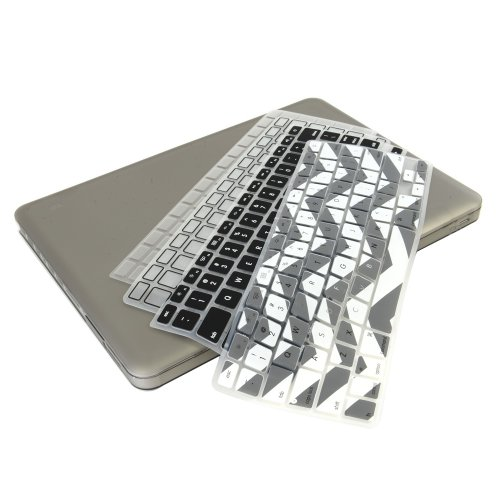#!  UHURU Great Deal Bundle for Apple Macbook / Macbook Pro with or without Retina Display - Ultra Slim Crystal See Through Hard Case + 4 Different Styles Silicone TPU Chevron Keyboard Covers (Macbook Pro 13