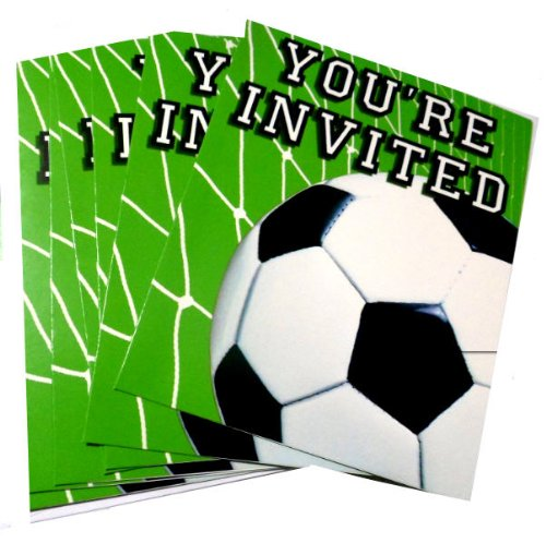Soccer Ball Birthday Party Invitation Cards