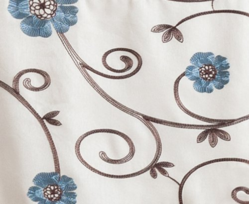 Lush Decor Royal Garden Window Treatment Valance, Blue - 1