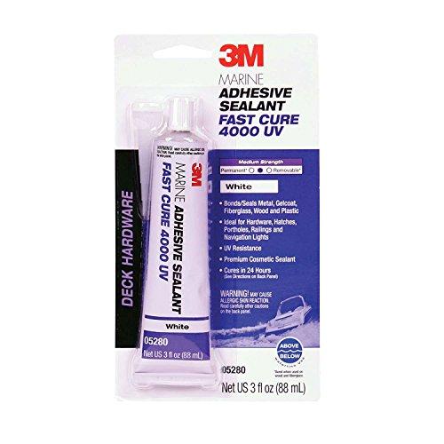 3M 05280 Marine Adhesive/Sealant Fast Cure 4000 UV,  White / 3 oz.