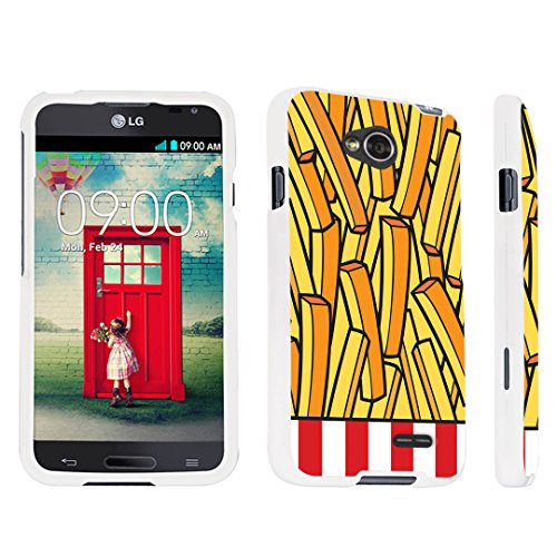 DuroCase LG Optimus L70 / LG Optimus Exceed 2 Hard Case White - (French Fries) (Lg Optimus L70 Case French Fries compare prices)