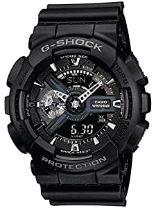 Casio - GA-110-1BER - G-Shock - Montre Homme - Quartz Analogique - Digital - Cadran Noir - Bracelet Résine Noir