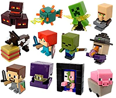 Minecraft End Stone Series 6 Set of 12 Mini Figures [Loose] by Mattel Toys