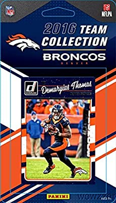 Denver Broncos 2016 Donruss NFL Football Factory Sealed Limited Edition 12 Card Complete Team Set with Von Miller,Demarcus Ware,Paxton Lynch RC,Legend JOHN ELWAY & Many More! Shipped in Bubble Mailer!