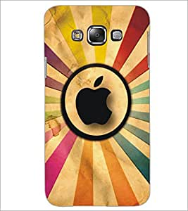 PrintDhaba Apple D-5351 Back Case Cover for SAMSUNG GALAXY A7 (Multi-Coloured)