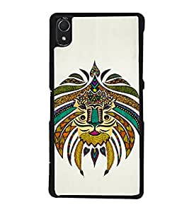 Tribal Art 2D Hard Polycarbonate Designer Back Case Cover for Sony Xperia Z3 :: Sony Xperia Z3 Dual :: Sony Xperia Z3 D6633
