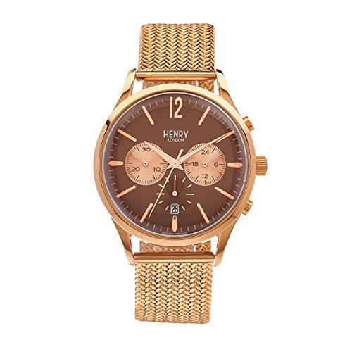 Henry London ltext-orologio Cronografo in acciaio inox Harrow luenette HL41 - CM-0056
