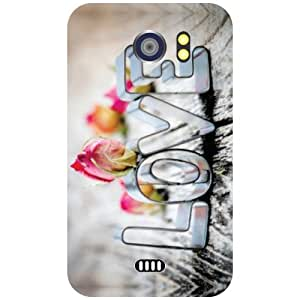 Micromax Canvas 2 A110 Back Cover - Love Is Cool Designer Cases