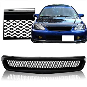 Amazon.com: 1999 - 2000 Honda Civic DX LX EX Si Mesh Style Front