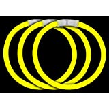 "CoolGlow Educational Products - 50 8"" Glow Stick Bracelets Yellow Glowsticks - Simply snap and shake"