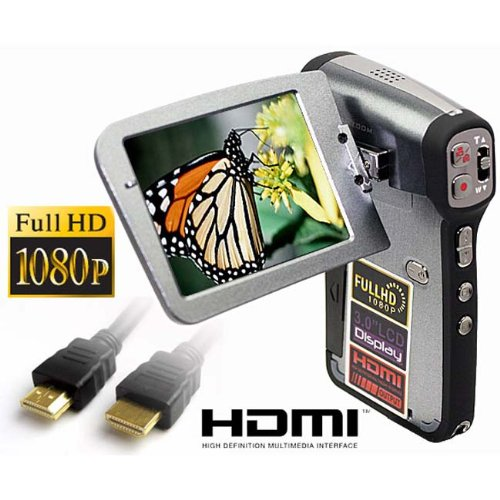 SVP T700 FULL HD 1080p 3.0 LCD Black DIGITAL VIDEO CAMCORDER + CAMERA!