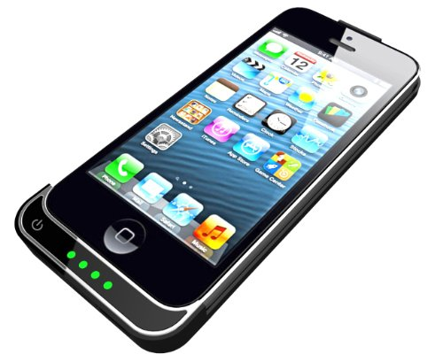 Fu-shine最新iPhone 5 バッテリー内蔵ケース 2200mah  (Black)