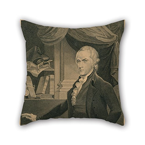 Slimmingpiggy Oil Painting William Rollinson - ALEXANDER HAMILTON, Major General Of The Armies Of The United States Of America. Secretary Of The Tr Pillowcase 16 X 16 Inches / 40 By 40 Cm Gift Or D (Dr Panda Ga compare prices)