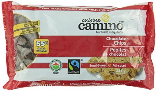 Cuisine Camino Organic Chocolate Chips-Semi-Sweet Chocolate Chips (55-Percent), 225G