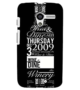 Printvisa Wine Bottle With Quotes Back Case Cover for Motorola Moto X XT1058::Motorola Moto X (1st Gen)